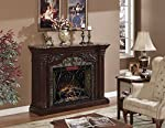 ClassicFlame 33WM0194-C232 Astoria Wall Fireplace Mantel, Empire Cherry (Electric Fireplace Insert sold separately) by ClassicFlame