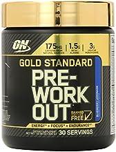 Optimum Nutrition Gold Standard Pre-Workout 30 Serve Supplement, Blueberry Lemonade, 300 Gram