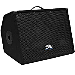 "Seismic Audio - Single 12"" Floor Monitors Studio, Stage, or Floor use - Pole Mount for PA/DJ Speakers - Bar, Band, Karaoke, Church, Drummer use by Seismic Audio Speakers, Inc."