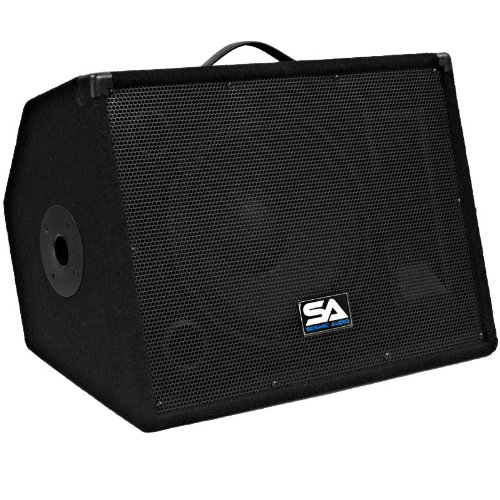 "Seismic Audio - Single 12"" Floor Monitors Studio, Stage, Or Floor Use - Pole Mount For Pa/Dj Speakers - Bar, Band, Karaoke, Church, Drummer Use"