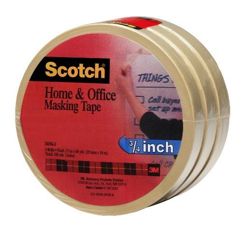 ScotchR-Home-and-Office-Masking-Tape-3436-3-34-inch-x-60-Yards