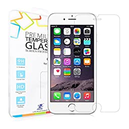 iPhone 6 / 6s Tempered Glass Screen Protector - iXCC 0.3mm HD [Round Angle, 9H hard] Screen Cover for Apple iPhone6 / iPhone6s