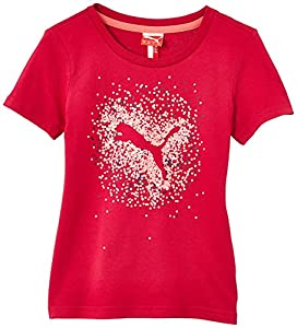 Puma FD TD Graphic T-Shirt mode Fille Cerise FR : 8 ans (Taille Fabricant : 128)