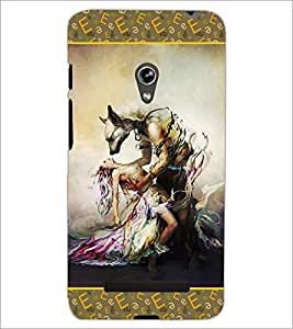 PrintDhaba Beauty and the Beast D-2526 Back Case Cover for ASUS ZENFONE 5 A501CG (Multi-Coloured)