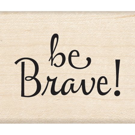 "Inkadinkado Be Brave Mounted Rubber Stamp, 1.25"" by 1.5"""