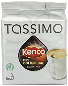 Get TASSIMO Kenco Colombian 16 T DISCs (Pack of 5, Total 80 T DISCs) by Kraft Foods