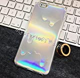 Hot Stylish 2 In 1 Holographic Iridescent Style 3D Melting Oil Drippy Transparent TPU Cover Case for Iphone 6Plus 6S Plus 5 5