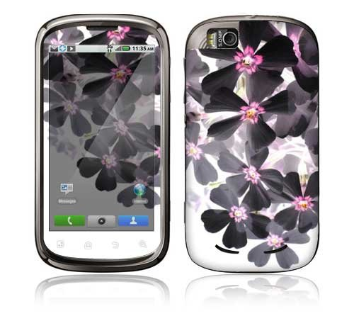 Asian Flower Paint Decorative Skin Decal Sticker for Motorola Cliq 2 Begonia Cell Phone
