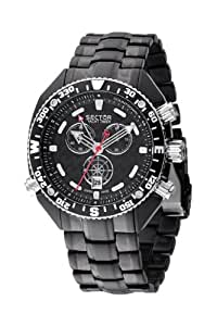 Sector Men's Watch R3273966025 In Collection Yacht Master With Black Dial & Black Colour Stainless Steel Plated Strap