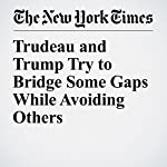 Trudeau and Trump Try to Bridge Some Gaps While Avoiding Others | Richard Pérez Peña,Ian Austen