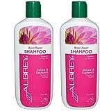 Aubrey Organics Biotin Repair Shampoo for All Hair Types with Baobab and He Shou Wu and Citrus Rain Scent, 11 fl oz (325 ml) (Pack of 2)