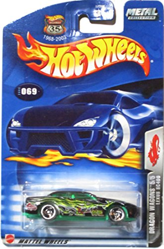 Hot Wheels 2003 Dragon Wagons Lexus SC400 5/5 BLACK 069 - 1