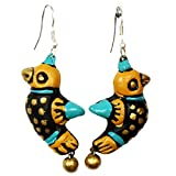 Purpledip Terracotta yellow earring for Women