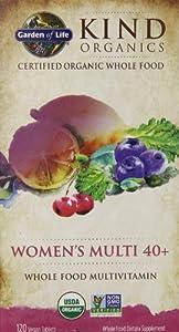 Garden of Life Kind Organics Women's 40 Plus Multivitamin, 120 Organic Tablets