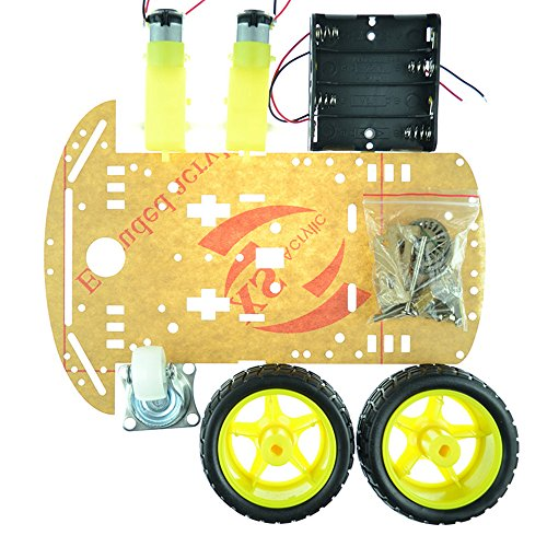 Industry Park 2WD Smart Robot Car Chassis Kit with Speed Encoder Battery Box for Arduino 2 Motor (1:48) (2wd Robot Car compare prices)
