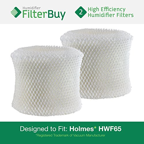 2 - Holmes HWF65 & H65-C Humidifier Wick Replacement filter Filters. Designed by FilterBuy to replace Holmes Part # HWF-65. (Hwf65 Filter compare prices)