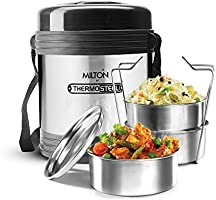 Milton Legend 3 Container Tiffin - Steel Plain 240ml (TS-230_STEEL)