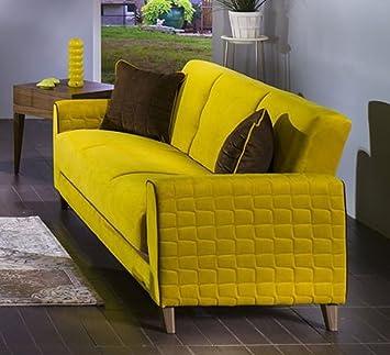 Fabio Lilyum Yellow Loveseat by Sunset