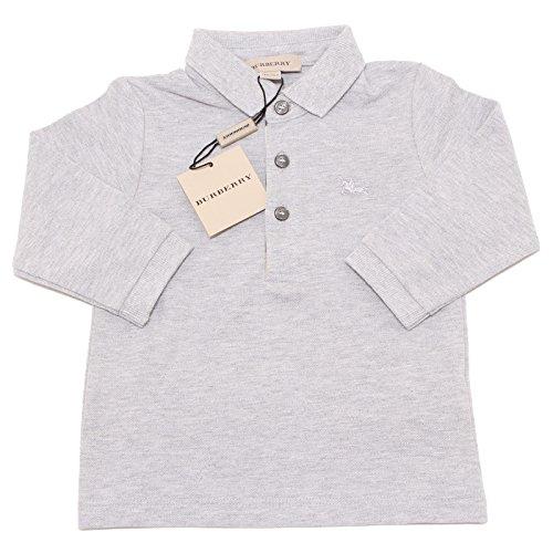 3607O polo bimbo grigia BURBERRY manica lunga maglia t-shirts kids [12 YEARS ]