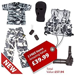 Kids SAS Night Ops Kit + 2 FREE Gifts - Fits Ages 5-12