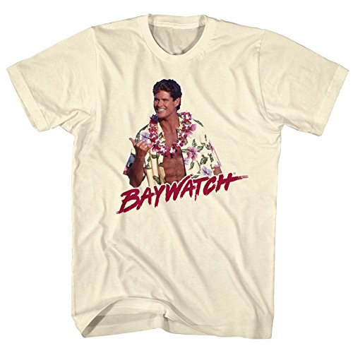 Official Baywatch Hawaiian Hoff T-shirt - S to XXL
