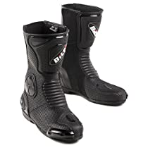 Big Sale Best Cheap Deals BILT Trackstar Leather Motorcycle Boots - 9, Black