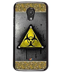 PRINTVISA Triangle Premium Metallic Insert Back Case Cover for Motorola Moto G2 - D5792