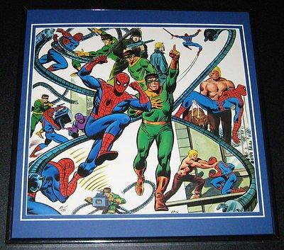 Amazing Spiderman & Doctor Octopus Original Framed 1978 Marvel Poster 12x12