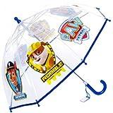 Paraguas manual transparente cupula 42cm de Paw Patrol La Patrulla Canina