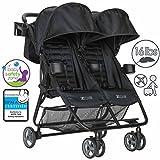 Zoe XL2 Double Lightweight Twin Travel Umbrella Stroller System - Black