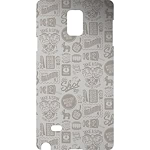 a AND b Designer Printed Mobile Back Cover / Back Case For Samsung Galaxy Note 4 (SG_N4_3D_2831)