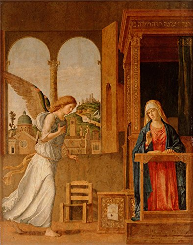 Oil Painting 'Cima Da Conegliano_1495_The Annunciation', 10 x 13 inch / 25 x 32 cm , on High Definition HD