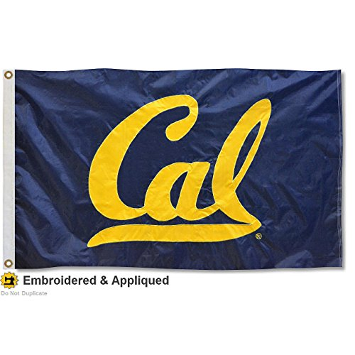 Cal Bears Nylon Embroidered Flag