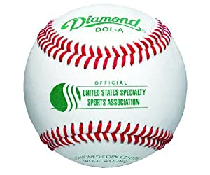 Diamond USSSA A-grade Grey Wool Blend Winding Baseball, Dozen