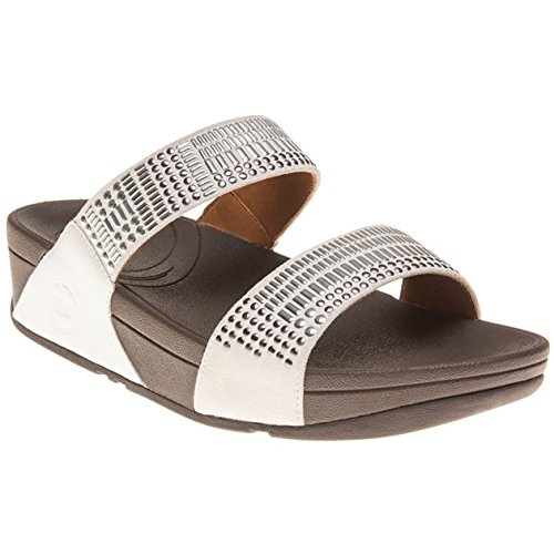 Fitflop Aztec Chada Slide Donna Sandalo Bianco
