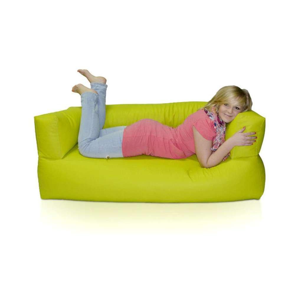 JUSThome Relax Sofa Sitzsack Sessel Riesensitzsack Polystyrol Farbe: Limone günstig online kaufen