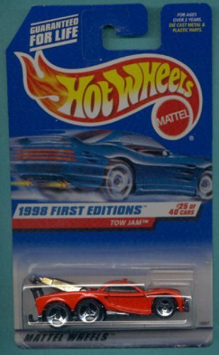 Mattel Hot Wheels 1998 First Editions 1:64 Scale Red Tow Jam Die Cast Car #025