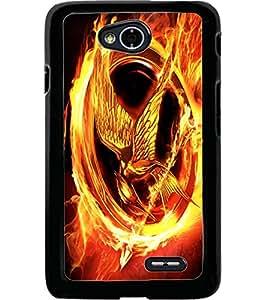 ColourCraft Flaming Eagle Design Back Case Cover for LG L70