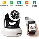 [Smart Link] ZONEWAY ZW-NC638MW-P Indoor H.264 720P HD 1.0 Megapixel Wi-FI Pan/Tilt Network IP Camera for Baby/Pet Monitor with Two Way Audio and Motion Detection(1280x720 Pixels, iPhone and Android APP Supported, Night Vision, Email Alert, Micro SD Card Slot)