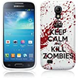 "Cell Shell ® Samsung Galaxy S4 Mini i9190 / i9195 Case / Cover / Custodia / Skin TPU Gel - Disegno Bianco e Rosso ""Keep Calm and Kill Zombies"""