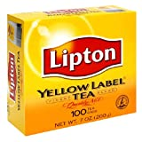 Lipton Yellow Label Orange Pekoe Teabags, 100-Count Box (Pack of 6)