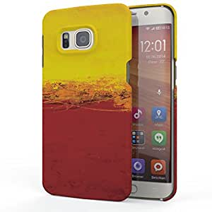 Koveru Designer Printed Protective Back Shell Case Cover for Samsung Galaxy S6 Edge Plus - Yellow and Red