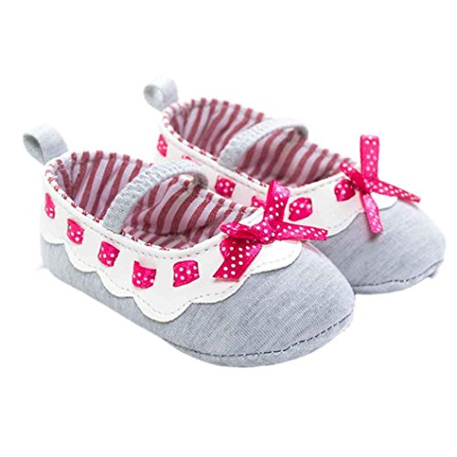 Ecosin-Girl-Bowknot-Ribbon-Anti-slip-Soft-Sole-Mary-Jane-Shoes-12-18month-Gray