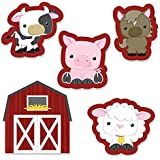Farm Animals - Shaped Party Cut-Outs - 24 Count