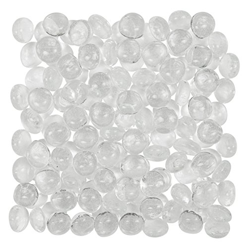 Clear Glass Gems (5 Lbs. 700 Count) - FILLS 1 ½ Quarts Vol. - Non-Toxic Lead Free Vase Filler, Table Scatter, Aquarium Filler - Beautiful, Smooth, Fun, Vibrant Colors by Artisan.Supply (Wedding Gems For Centerpieces compare prices)