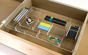 Us acrylic hanging drawer organizer expands - Acrylic desk drawer organizer ...