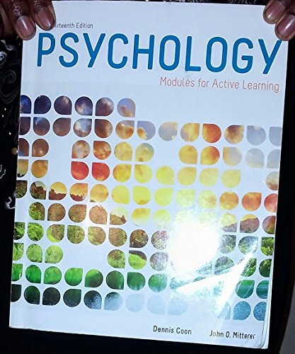 Psychology in Modules (11th Edition)
