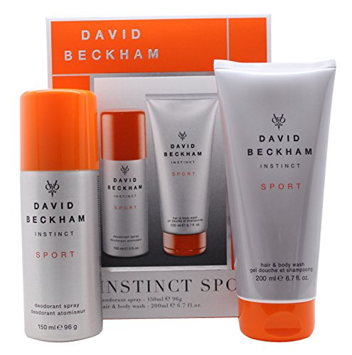 David Beckham Instinct Sport Confezione Regalo 150ml Deodorant Body Spray + 200ml Hair & Body Wash