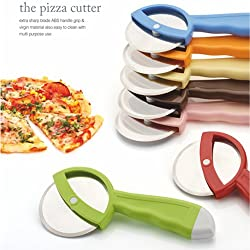 A to Z Sales Pizza Cuuter, Pizza Slicer with Extra Sharp Blade, Abs Blade Grip & Virgin Material Also Easy to Clean