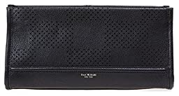 Isaac Mizrahi Designer Handbags: Leather Kay Check Perf Clutch - Black (See More Colors)